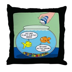 Filet of Fish Throw Pillow