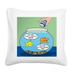 Filet of Fish Square Canvas Pillow