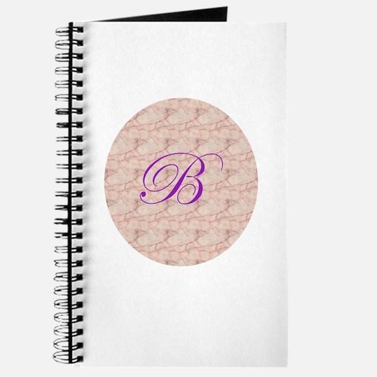 Monogram B in Circle Journal