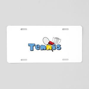 Tennis Time Aluminum License Plate