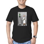 Frankenstein Fathers Day Men's Fitted T-Shirt (dar