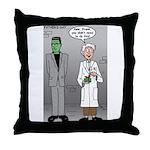 Frankenstein Fathers Day Throw Pillow