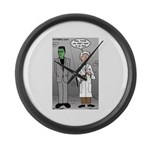 Frankenstein Fathers Day Large Wall Clock