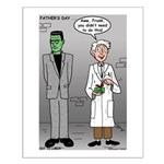 Frankenstein Fathers Day Small Poster