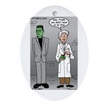Frankenstein Fathers Day Ornament (Oval)
