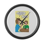 Fathers Day Discovery Large Wall Clock