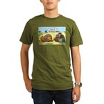 Lion Fathers Day Organic Men's T-Shirt (dark)