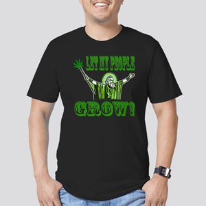 Green Moses Men's Fitted T-Shirt (dark)