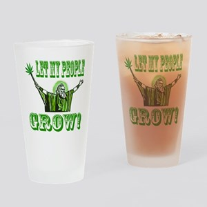 Green Moses Drinking Glass