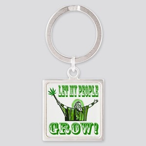 Green Moses Square Keychain