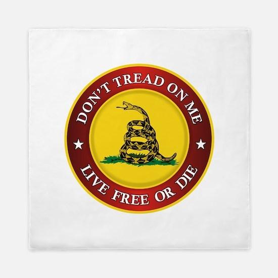 DTOM Gadsden Flag (logo) Queen Duvet