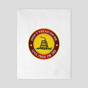 DTOM Gadsden Flag (logo) Twin Duvet