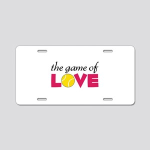 The Game Of Love Aluminum License Plate