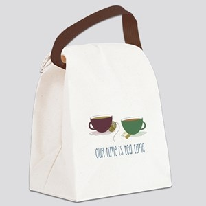 our time is tea time Canvas Lunch Bag