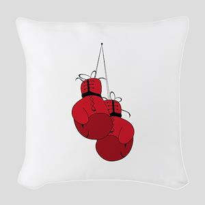 Boxing Gloves Woven Throw Pillow