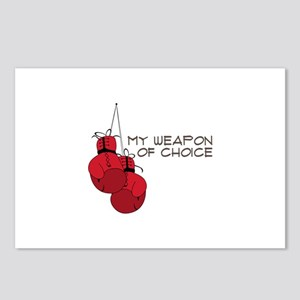 MY WEAPON OF CHOICE Postcards (Package of 8)