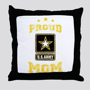 US Army proud Mom Throw Pillow