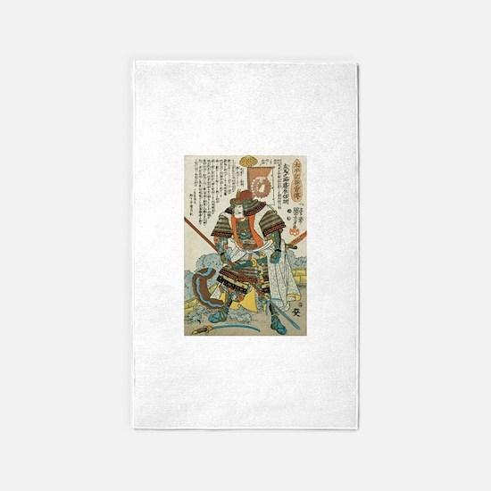 Samurai Kato Samanosuke Yoshiaki 3'x5' Area Rug