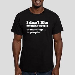 I Don't Like Morning P Men's Fitted T-Shirt (dark)