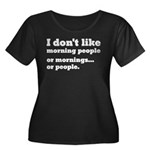 I Don't Women's Plus Size Scoop Neck Dark T-Shirt
