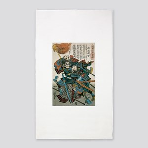 Samurai Fukushima Masanori 3'x5' Area Rug