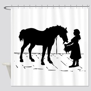 Horse & Girl Shower Curtain