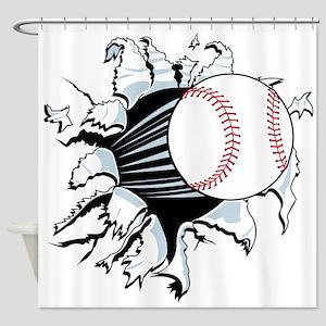 Breakthrough Baseball Shower Curtain