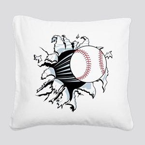 Breakthrough Baseball Square Canvas Pillow
