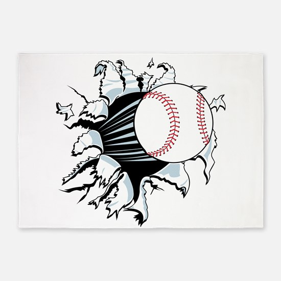Breakthrough Baseball 5'x7'Area Rug