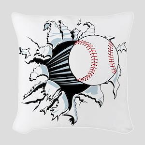 Breakthrough Baseball Woven Throw Pillow