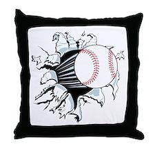 Breakthrough Baseball Throw Pillow