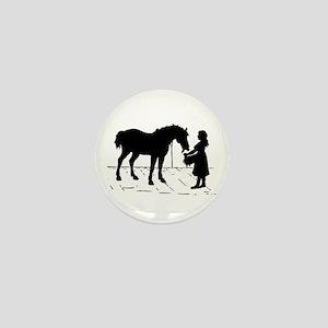 Horse & Girl Mini Button