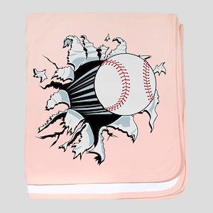 Breakthrough Baseball baby blanket