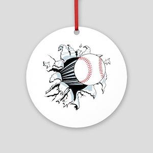 Breakthrough Baseball Ornament (Round)