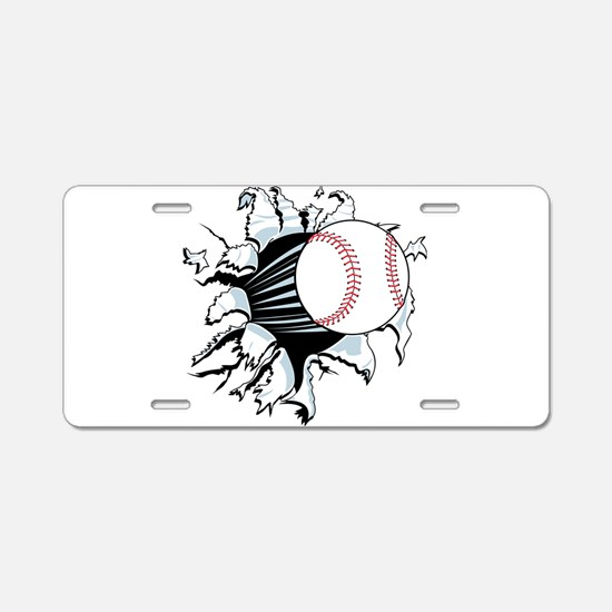 Breakthrough Baseball Aluminum License Plate