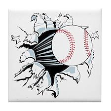 Breakthrough Baseball Tile Coaster