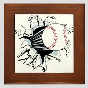 Breakthrough Baseball Framed Tile