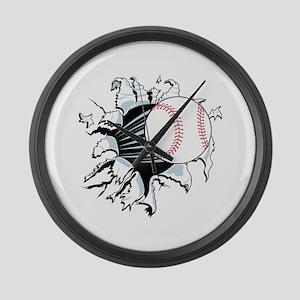 Breakthrough Baseball Large Wall Clock