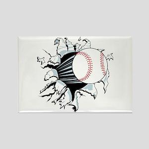 Breakthrough Baseball Rectangle Magnet