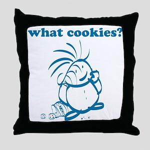 Cookies kid, What Cookies? Throw Pillow