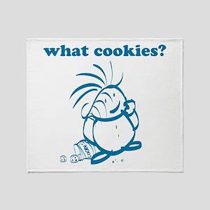 Cookies kid, What Cookies? Throw Blanket