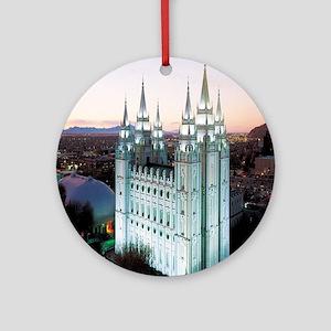 Salt Lake City Temple Ornament (Round)