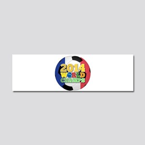 2014 World Champs Ball - France Car Magnet 10 x 3
