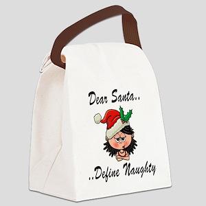 santa_lady_define_cafe_press Canvas Lunch Bag