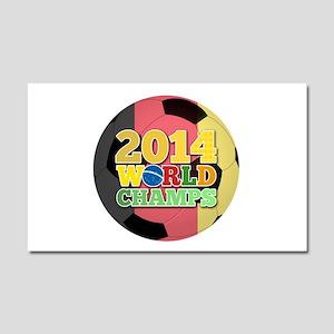 2014 World Champs Ball - Belgium Car Magnet 20 x 1