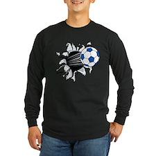 Breakthrough Soccer Ball Long Sleeve Dark T-Shirt