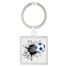 Breakthrough Soccer Ball Square Keychain