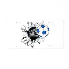 Breakthrough Soccer Ball Aluminum License Plate