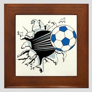 Breakthrough Soccer Ball Framed Tile