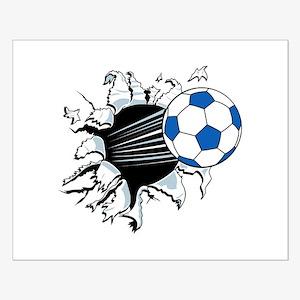 Breakthrough Soccer Ball Small Poster